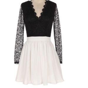 Dresses & Skirts - NWT Depri Black and white Lace Dress large - SD121